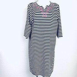 CJBanks Black White Pink Embroidered Women Dress.